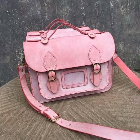 Handmade leathercraft bag, Cambridge Satchel, Women bag,  Sheridan carving bag f18071