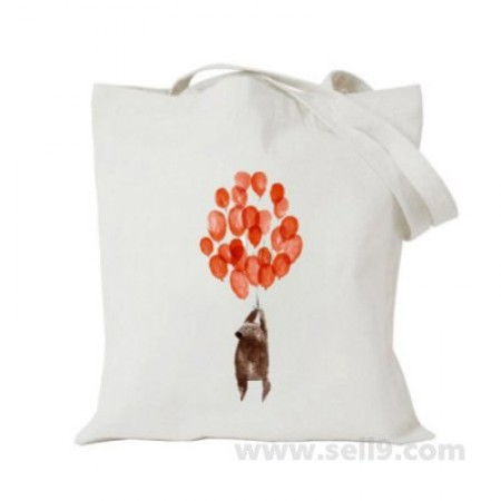 Design Your Own BAG Customized Tote - Add your Picture Photo Text Print  - Bear with balloon