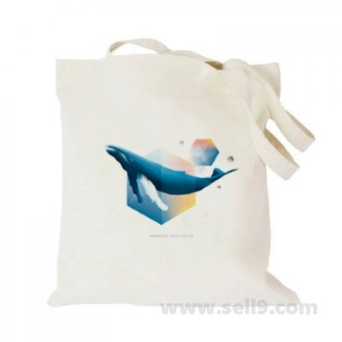 Design Your Own Bag Customized Tote Add Picture Photo Text Print Blue Whale2