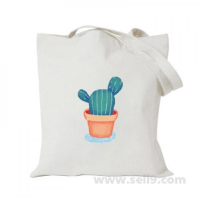 Design Your Own BAG Customized Tote - Add your Picture Photo Text Print  - Cactus in pot