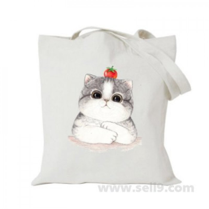 Design Your Own BAG Customized Tote - Add your Picture Photo Text Print  - Cat tomato