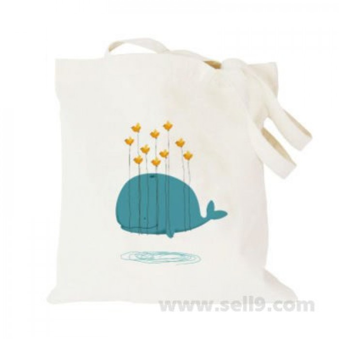 Design Your Own BAG Customized Tote - Add your Picture Photo Text Print  - Flying whale