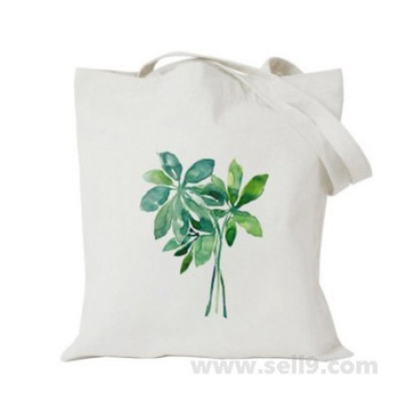 Design Your Own BAG Customized Tote - Add your Picture Photo Text Print  - Green leaves