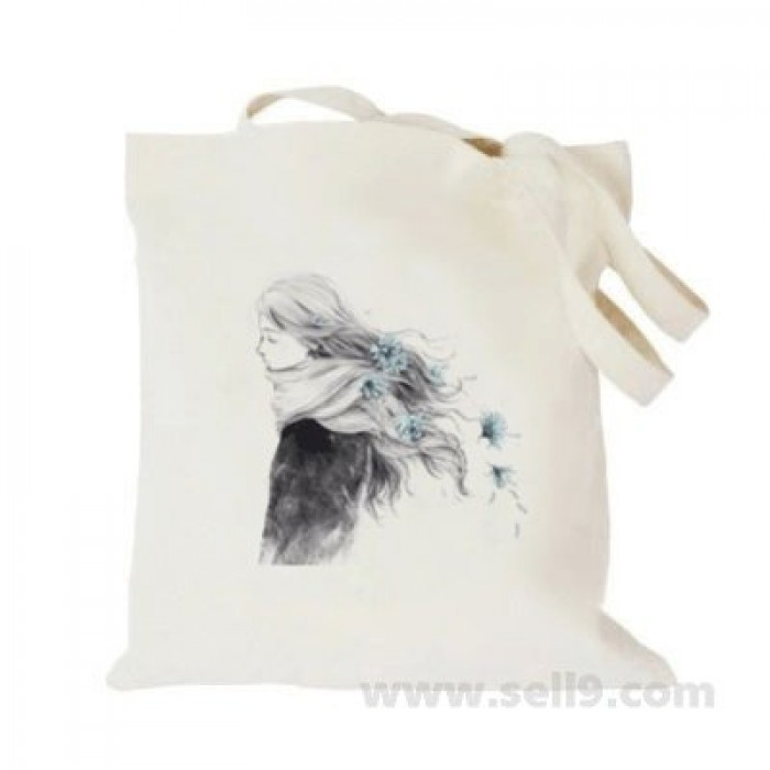 Design Your Own BAG Customized Tote - Add your Picture Photo Text Print  - Long hair girl