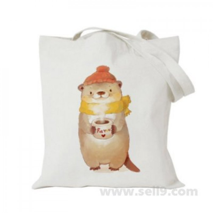 Design Your Own BAG Customized Tote - Add your Picture Photo Text Print  - Otter