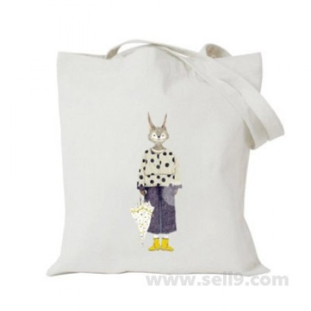 Design Your Own BAG Customized Tote - Add your Picture Photo Text Print  - Rabbit girl