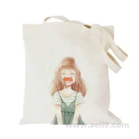 Design Your Own BAG Customized Tote - Add your Picture Photo Text Print  - Shouting girl