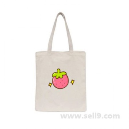 Design Your Own BAG Customized Tote - Add your Picture Photo Text Print  - Strawberry
