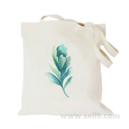 Design Your Own BAG Customized Tote - Add your Picture Photo Text Print  - One green leaf