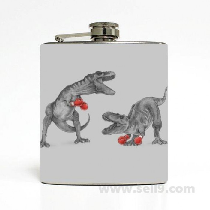 Printed Flask 6 oz Stainless steel Liquor Hip Flask Gift idea F-017
