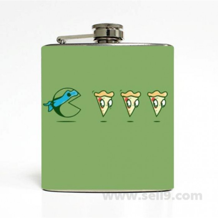 Printed Flask 6 oz Stainless steel Liquor Hip Flask Gift idea F-267