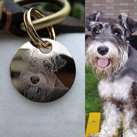 Personalized laser engraving pet tag Custom stainless steel pendant key fob 034