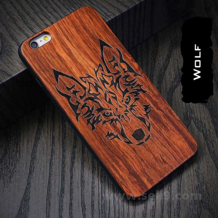 Genuine wood Wolf iPhone 6 6s 6p 6sp case in store