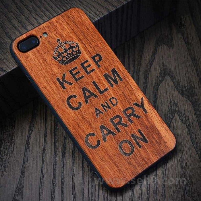 Genuine wood Crown iPhone 7 plus 8 plus case in store