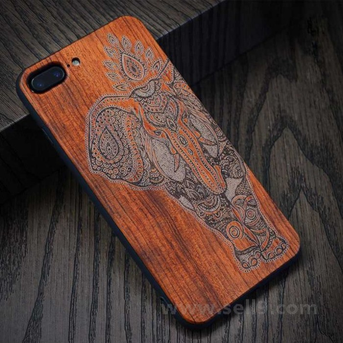 Genuine wood Ganesha iPhone 7 plus 8 plus case in store