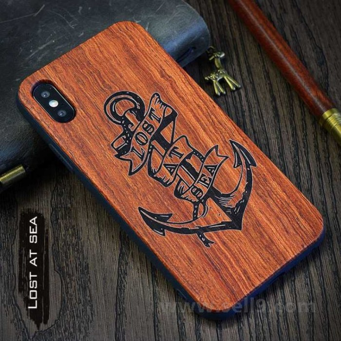Genuine wood Lost at sea iPhone X case in store