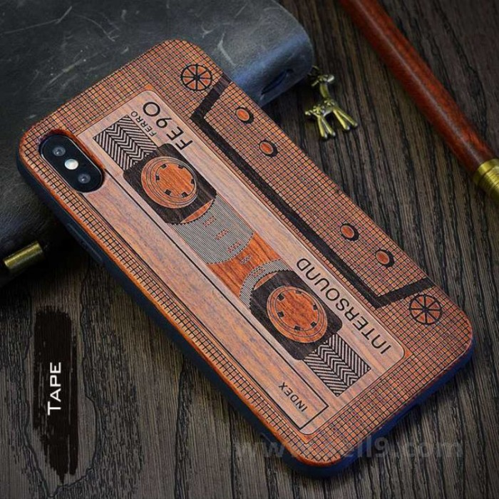 Genuine wood Tape iPhone X case in store