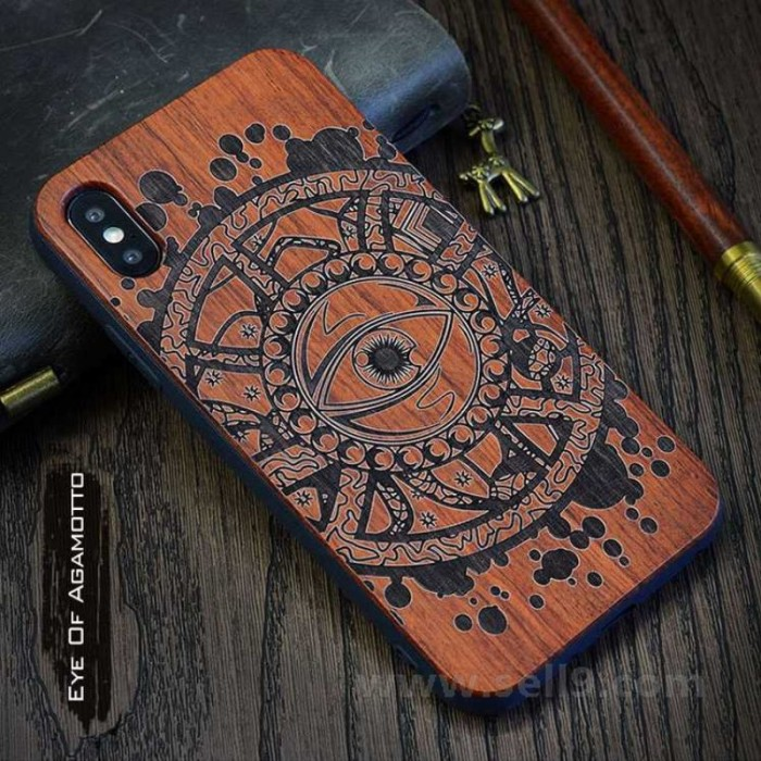 Genuine wood Eye of Agamotto iPhone X case in store