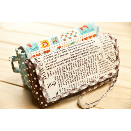 Multi layer clutch diy material kit Bag 004