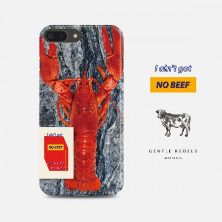 GENTLE REBELS Tu Cool Mobile Shell iphoneXs max Marble Lobster Art Apple 7/8plus