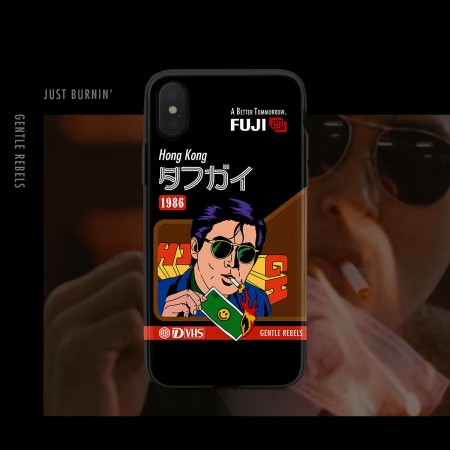 GENTLE REBELS Hong Kong Retro Movie Steam Wave Spoof Apple iphonexsmax Mobile Shell 11xr