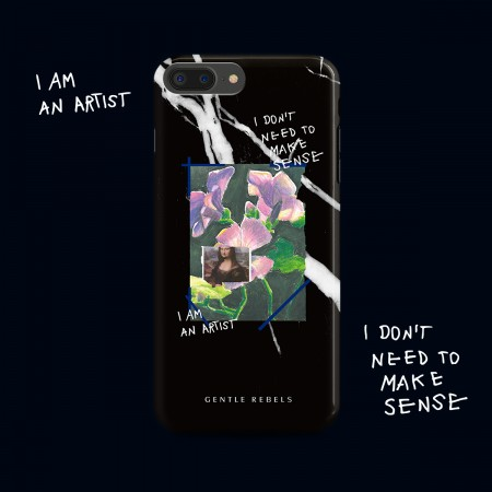 GENTLE REBELS Marble iphoneX Mobile Shell Spoof Oil Painting Collage Flower Apple 6/7/8plus