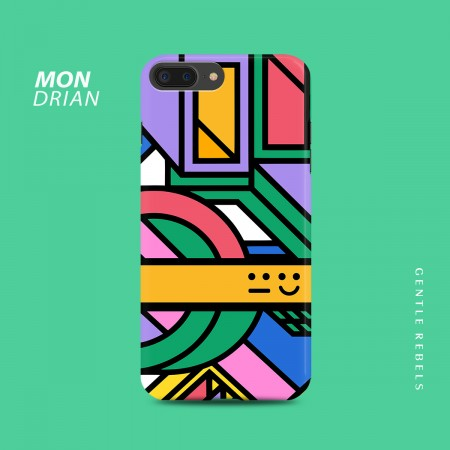 GENTLE REBELS Candy Color iphone7p Mobile Shell Mondrian Small Fresh Smile Apple 6/8/X